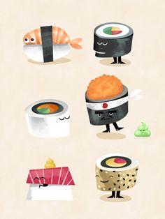 The Secret Life of Sushi by Jonas Mosesson, via Behance