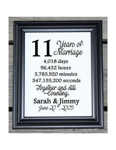 11th Wedding Anniversary Cotton Print By Cottoncelebrations 11 Year Gifts For Wife