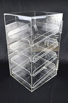 4 Tray 5mm Acrylic Bakery Muffin Donut Pastry Display Cabinet - Online Shopping with FactoryFast Australia