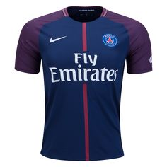 Paris Saint-Germain Home 2017/18 Home Jersey.  Just Launched!⚡️  Available now at WorldSoccerShop.com