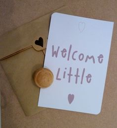 """Carte de bienvenue naissance """" Welcome little"""" bylfdp via [by] lfdp. Click on the image to see more!"""