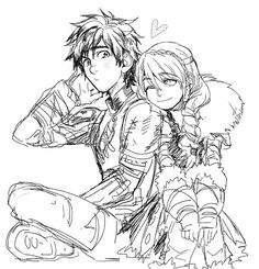 Hiccup and Astrid look so cute: