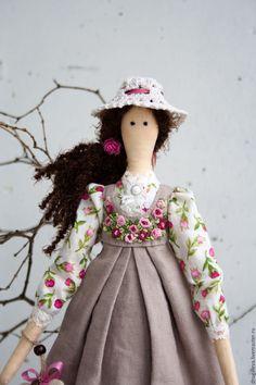 Купить Кукла тильда Полина, текстильная кукла, интерьерная кукла - бежевый, тильда