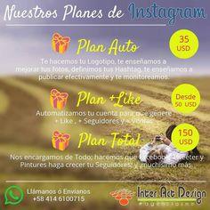 Nuestros Planes para Instagram.  #medellin #bogota #riodejaneiro #saopaulo #lima #quito #caracas #panama #costarica #guatemala #puertorico #cartagena #cali #barranquilla #mexico #latinoamerica #riodejaneiro #colombia #miami #republicadominicana