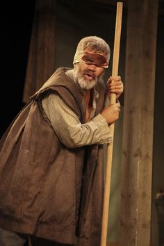 Rawiri Paratene as Gloucester in King Lear, touring production.  (c) Ellie Kurttz, 2013