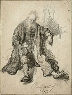 Rembrandt Drawings | Rembrandt, Lot Drunk | Rembrandt Drawings