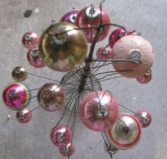 Vintage 1950's Christmas Bulbs Pretty Pink by TheIDconnection, $90.00