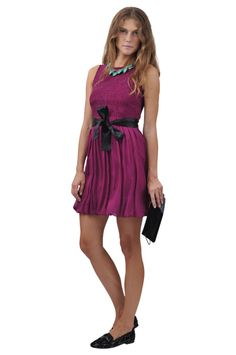 Red Valentino dress, necklace and shoes, Noemi B clutch