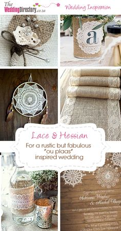 Lace and Hessian Inspired Wedding