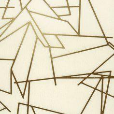 Angles - Cream/Gold (Walnut Wallpaper)