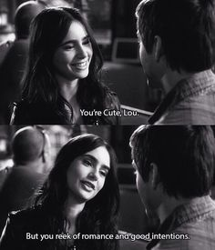 Stuck in love ~ Lily Collins and Logan Lerman Logan Lerman, Lily Collins, Tv Quotes, Movie Quotes, Qoutes, Sassy Quotes, Famous Quotes, Stuck In Love Movie, Romance