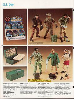Catalog for the 1975 GI Joe Adventure Team Catalog featuring Mike Power Atomic Man Gi Joe, Action Toys, Action Figures, Childhood Toys, Childhood Memories, Big Blue Whale, Figurines D'action, Vintage Toys, Vintage Stuff