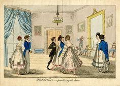 Quadrilles - practising at home, 1817. British Museum 1991,0720.74