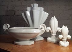 Here are some early grey glazed Fulham Pottery vases. There are our all time favourites! The tall vase is £580.00