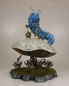 Caterpillar Alice in Wonderland by Heather Lawless, via Behance