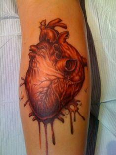 Heart tattoo by sam iamm dunn northeast tattoo and for Twin city tattoo