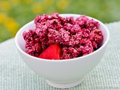 Excalibur Dehydrator Raw Food Recipes. Gena Hamshaw and Choosing Raw's Vegan Beet and Hemp Granola. This tastes delicious, is really different, and looks GORGEOUS!