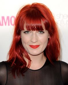 "Red hair is not for the faint of the heart. Red hair color is a fierce and bold hair colorRead More Bold & Beautiful Bright Red Hair Color Shades & Hairstyles"" Florence Welch, Cute Girls Hairstyles, Latest Hairstyles, Celebrity Hairstyles, Fiery Red Hair, Bright Red Hair, Red Hair Celebrities, Red Copper Hair Color, Auburn Red Hair"