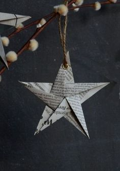 18 simple DIY ideas for your Christmas decorations SoLebIch.de 18 simple DIY ideas for your Christmas decorations SoLebIch. All Things Christmas, Winter Christmas, Christmas Holidays, Christmas Ornaments, Decoration Christmas, Diy Decoration, Christmas Stars, Christmas Ideas, Origami Xmas Ornaments