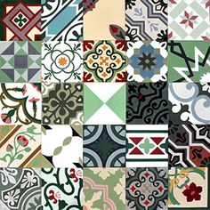 Cement tiles - patchworks | Mosaic del Sur http://www.carreauxmosaic.com/stock-boutique-achat-carreaux-ciment/index.php