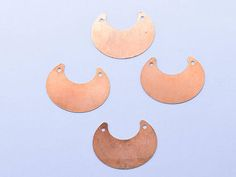 Copper Half circle Blanks -35mm blanks - Earnings supplies - Earring blanks -enamel blanks - Bunny blanks - Hand Stamping Blanks - 4 pieces Half circle copper blank , stamped disc, copper disc, round disc, stamping blank, personalized disc, 24 gauge, copper blank, raw copper,pack of 4