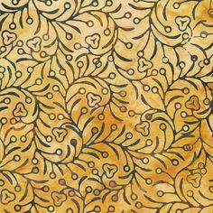 Batik Fabric Amber Vines - consider different backrgound color