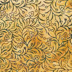 Batik Fabric Amber Vines - consider different backrgound color