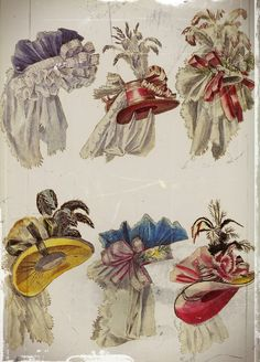 Hat for noble ladies in 1770s