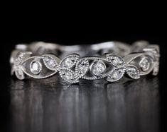 Art Deco Eternity Diamond Wedding Band by IvyandRoseVintage