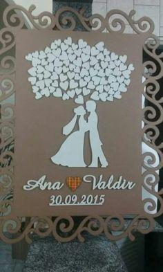 Arts em mdf Wedding Cards Handmade, Wedding Gifts, Diy Arts And Crafts, Paper Crafts, Wedding Card Quotes, Laser Art, Frame Crafts, Wedding Frames, Box Frames