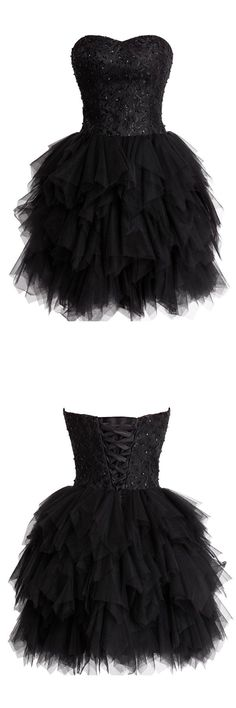 sexy homecoming dress,2016 homecoming dress,black homecoming dress,mini homecoming dress,ball gown homecoming dress,tulle homecoming dress,cocktail dress,black cocktail dress,prom dress,short prom dress