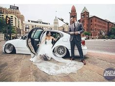 Best way to show up at your wedding is in your slammed Lexus GS
