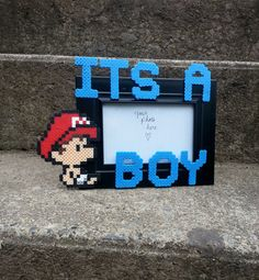Baby+Mario+Picture+Frame++It's+A+Boy+Picture+by+BurritoPrincess,+$18.00