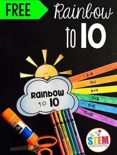What a pretty math activity for kindergarten! Practice addition to 10 with this colorful craftivity!