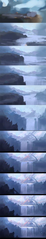 "Making of ""Elysium"" by jamajurabaev on deviantART"