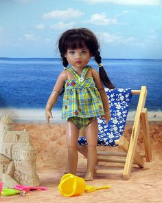 Dragonfly & Ladybug 2 pc Swimsuit for Riley Kish sold for $17.75 July 2017