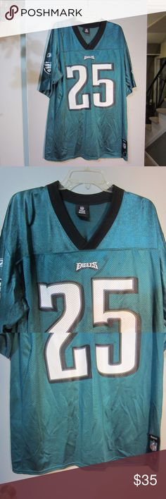 Eagles McCoy Mens Jersey #25 Size Large Up for sale is this preowned Eagles McCoy Mens Jersey #25 Size Large. In very good condition. Reebok Shirts