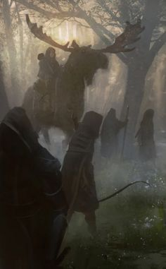 "fantasyartwatch:  ""Into the Woods by Symbaroum Art Team  """