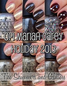 OPI Mariah Carey Holiday -The Shimmers and Glitters #nails #holiday #christmas