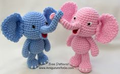Free Crochet Pattern: Elephant Girl Amigurumi Doll Free crochet pattern for girl elephant! Free amigurumi pattern for elephant doll and dress. The pattern comes with clear instructions and photos. Crochet this little elephant for all your loved ones! Crochet Bear, Crochet Patterns Amigurumi, Crochet Animals, Crochet Dolls, Free Crochet, Knitting Patterns, Amigurumi Tutorial, Crochet Elephant Pattern Free, Elephant Applique