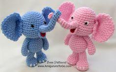 Baby Elephant Free Crochet Pattern