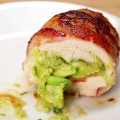 Bacon Guacamole Chicken Bombs Recipe by Tasty