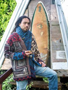 Kapital Clothing | Indigenous Lookbook, mixed pattern sweater