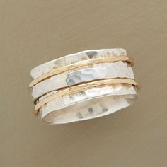PERFECT PARTNERS RING--A hand-hammered silver