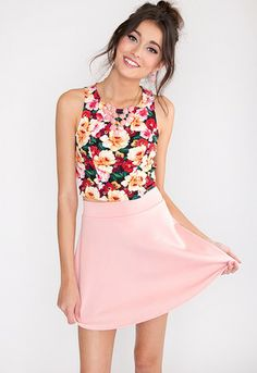Sugar Rush Skater Skirt- Blush