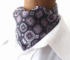 KrawattenschalAscotSeide in rosa-grauem von pinkmagnolia2303