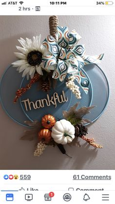 Dollar Tree Fall, Dollar Tree Decor, Dollar Tree Crafts, Thanksgiving Crafts, Thanksgiving Decorations, Fall Crafts, Holiday Crafts, Wreath Crafts, Flower Crafts