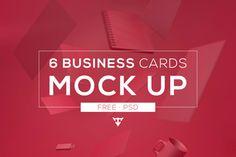 6 Free Business Card Mockups