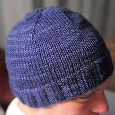Beanie Knitting Patterns Free, Beanie Pattern Free, Knitting Paterns, Lace Knitting, Knitting Designs, Knit Patterns, Mens Knit Beanie, Knit Hat For Men, Knitted Headband
