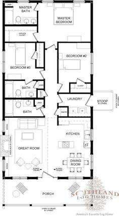 Bungalow - Log Home Plan | Southland Log Homes